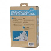 Vertical Surfboard Rack Double Packaging Back