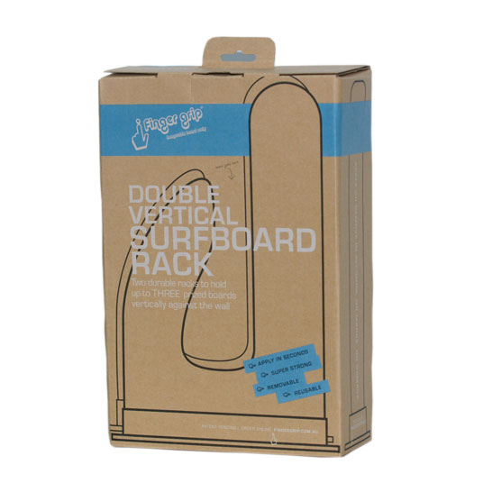 Vertical Surfboard Rack Double Packaging Front